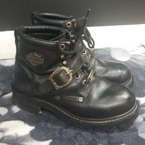 Harley davidson womens size 7 black moto boot